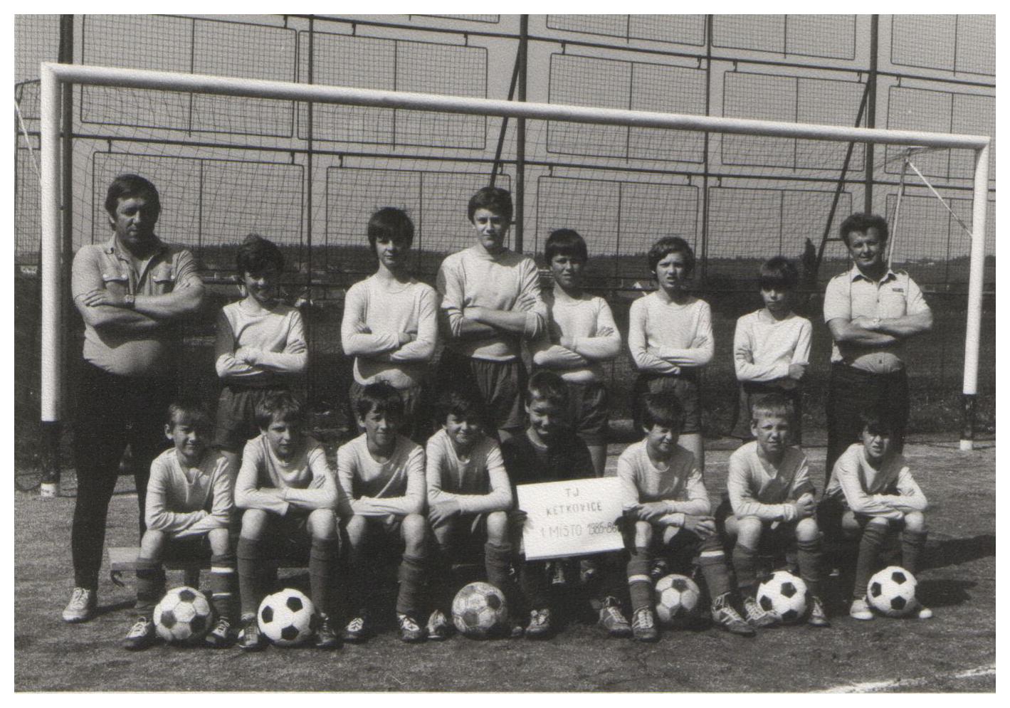 žáci 1985 - trenéři František Matoušek a S.Leitner